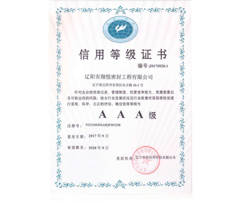 AAA Credit Grade Certificate